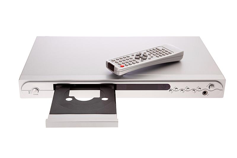 遥控器,dvd机,disk,分离着色,水平画幅,进行中,银色,白色背景,背景分离,蓝光光盘