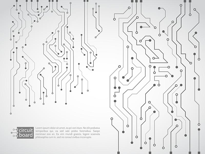 电路板,绘画插图,矢量,半导体,it技术支持,母板,中央处理器,二进制码,水平画幅,建筑设备