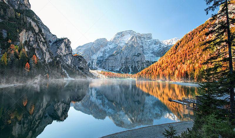 湖,阿尔卑斯山脉,秋天,自然美,水,天空,美,水平画幅,雪,无人
