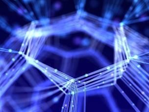 计算机网络,抽象,式样,背面视角,线条,深蓝,纳米技术,纤维光学,神经元,能源