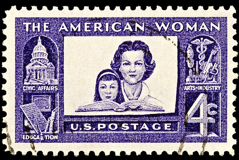 女人,美国,艺术,水平画幅,人,邮戳,黑色背景,工业,1960年-1969年,邮件