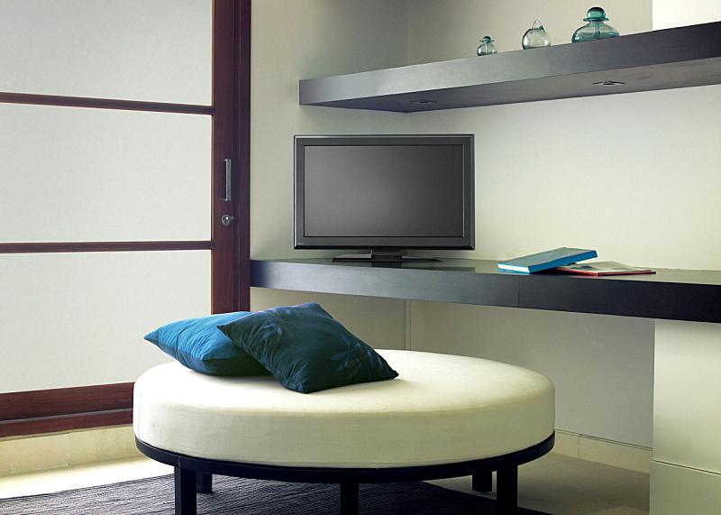 住宅房间,电视机,座位,水平画幅,无人,椅子,家庭生活,架子,家具,泰国
