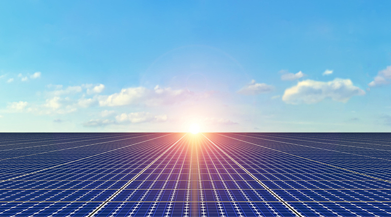 太阳能电池板,背景,太阳能,天空,未来,多代家庭,水平画幅,能源,工厂,干净