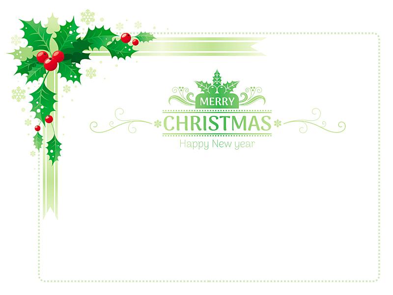 贺卡,边框,绘画插图,符号,模板,角落,冬青树,叶子,矢量