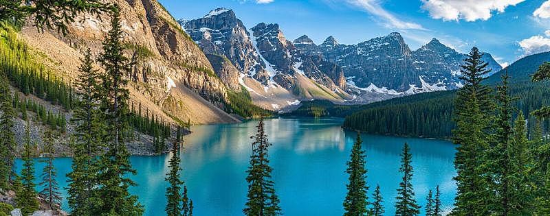 加拿大,自然,班夫,水平画幅,地形,阿尔伯塔省,无人,全景,早晨,夏天