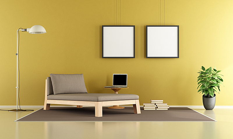 起居室,留白,笔记本电脑,褐色,水平画幅,墙,无人,地毯,灯,家具