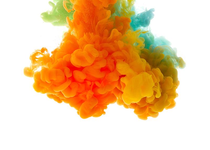 墨水,抽象,分离着色,液体,背景,云,平衡折角灯,行动,落下