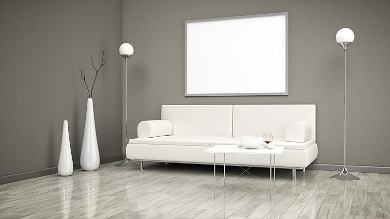 沙发,住宅房间,褐色,水平画幅,无人,地毯,灯,家具,现代,米色