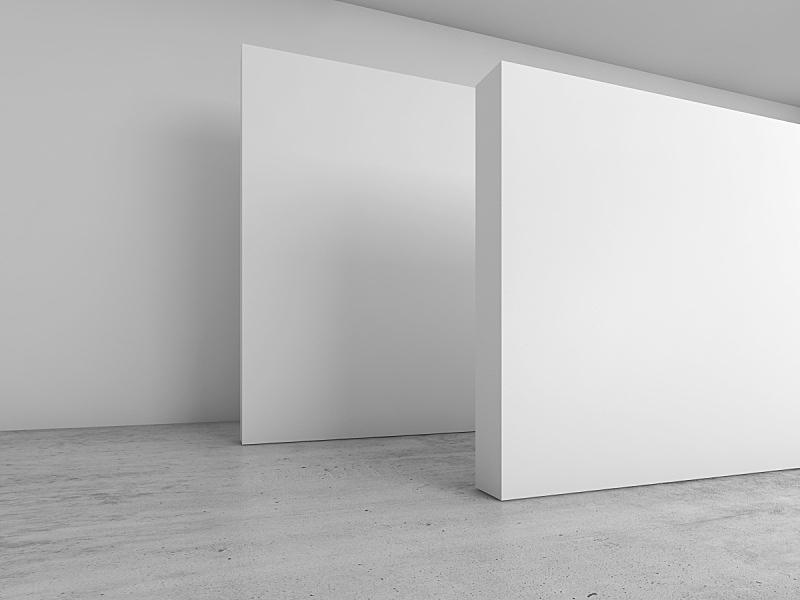 空白的,室内,三维图形,装置艺术,走廊,办公室,留白,新的,艺术