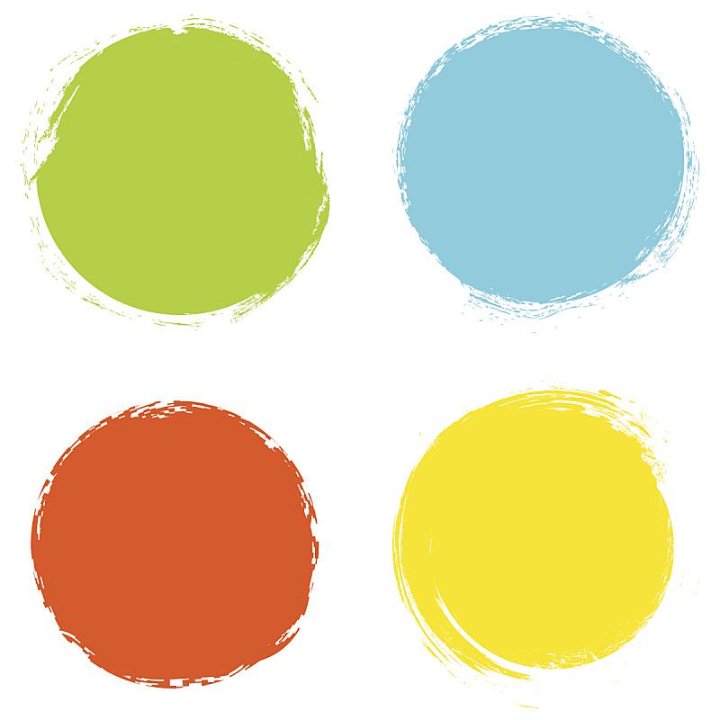 绘画插图,矢量,圆形,背景,分离着色,白色背景,笔触,边框,艺术,形状
