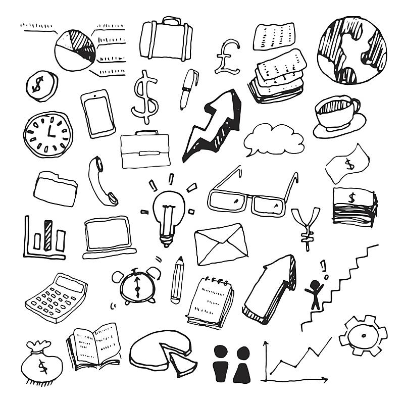 矢量,商务,乱画,领导能力,美元符号,绘画插图,计算机制图,计算机图形学,卡通,箭头符号