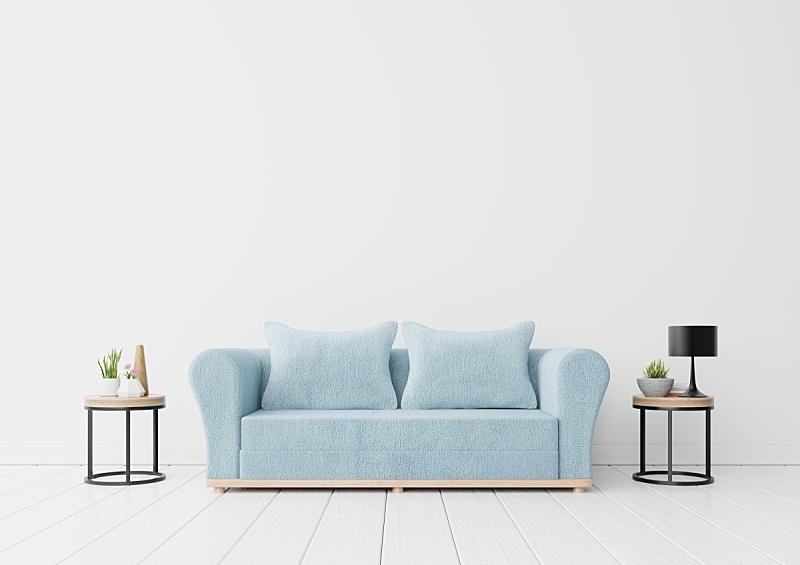 沙发,书,灯,室内,蓝色,商务,空的,华贵,从容态度,现代