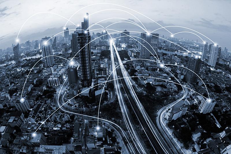 概念,蓝色,网线插头,都市风景,蜘蛛网,无线技术,办公楼外观,全球通讯,原子,运动模糊
