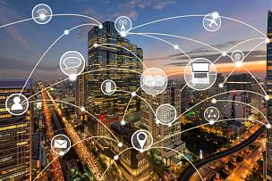 城市,技术,全球通讯,图标,曼谷,电话线,计算机电缆,无线技术,数字化显示,联系