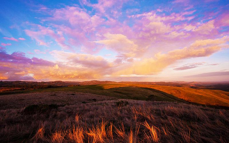 自然,地形,气候,云景,植物,河流,晴朗,草地,南,欧洲