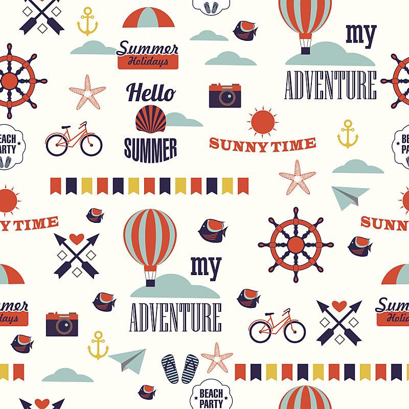 纹理效果,夏天,式样,多色的,热气球,方向盘,艺术,沙滩派对
