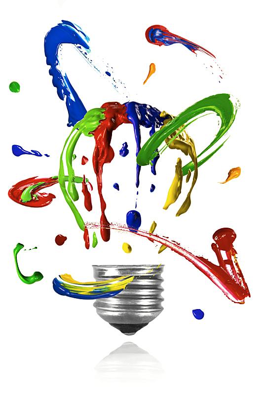 涂料,电灯泡,轨道运行,背景分离,美术工艺,照明设备,想法,圆形,创造力,摄影