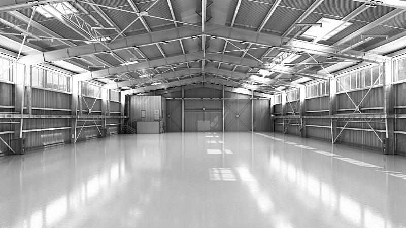 仓库,空的,机库,绘画插图,三维图形,商务,汽车,现代,建筑业,设备用品