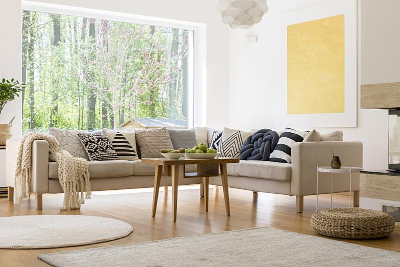 白色,住宅房间,舒服,留白,水平画幅,缓慢的,走廊,户外,灯,家具