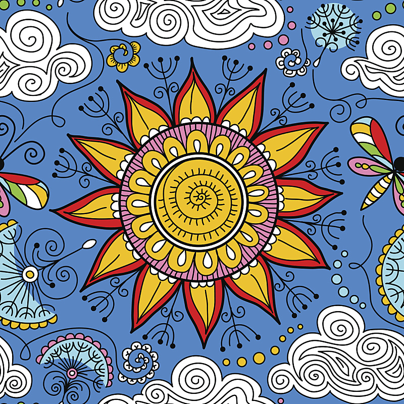 日光,矢量,花纹,圆花窗,遮护的手势,华丽的,螺线,云景,云,缠绕