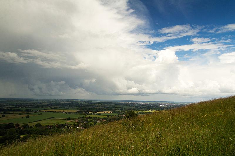 白金汉郡,风景,切尔吞山,云,在上面,水平画幅,山,无人,英格兰,夏天