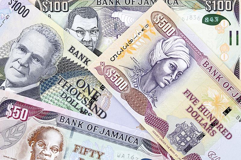 牙买加,美元符号,图像,组物体,金融和经济,无人,水平画幅,金融,收集,摄影