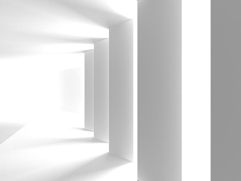 现代,白色,建筑,抽象,背景,未来,新的,水平画幅,无人,绘画插图