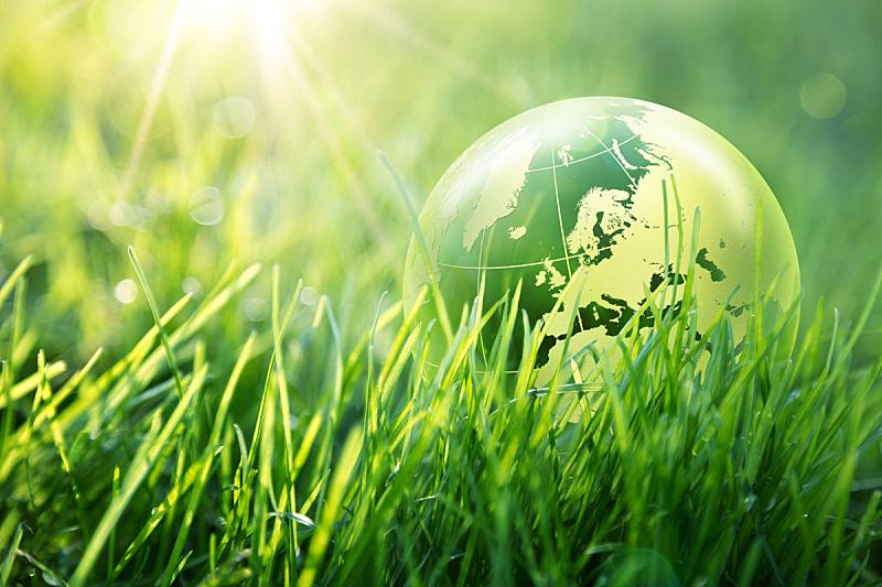 地球形,欧洲,概念,环境,环境保护,地球,水平画幅,无人,玻璃,草