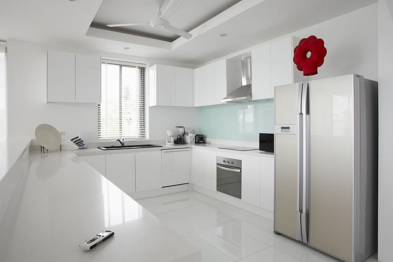 现代,室内,厨房,房屋,水平画幅,无人,家庭生活,家具,水槽,烤炉