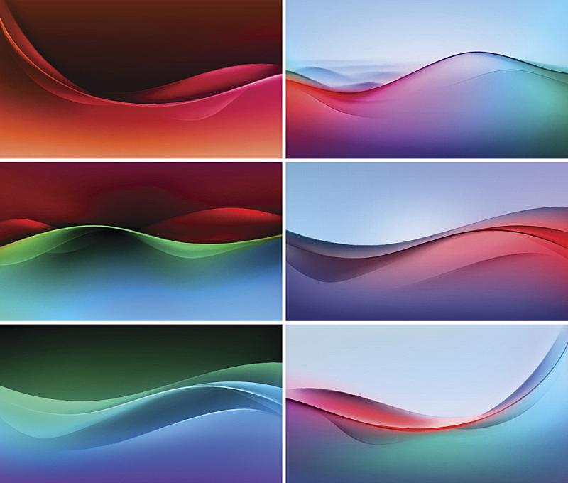 矢量,色彩鲜艳,抽象,背景,波形,水,未来,褐色,艺术