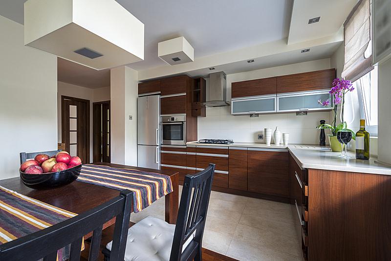现代,室内,厨房,微波炉,褐色,新的,水平画幅,无人,玻璃,家庭生活