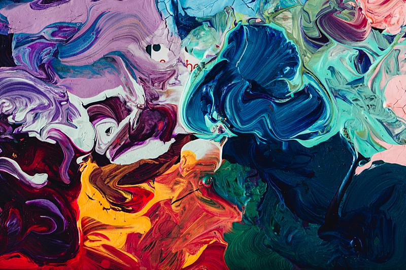 彩色图片,丙稀画,多色的,大特写,特写,与众不同,艺术家,纹理效果,古典式