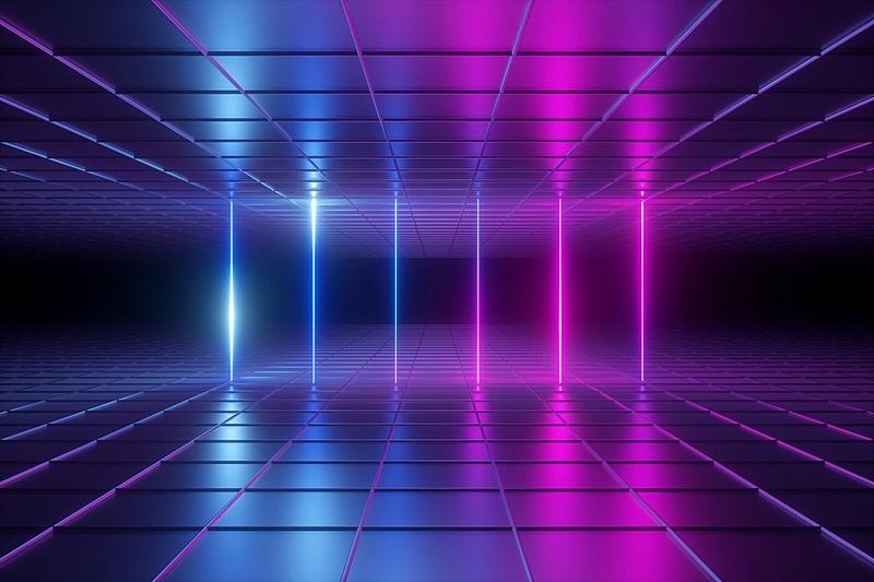环境,网络空间,光谱色,条纹,霓虹灯,激光,无人,住宅房间,格子,抽象