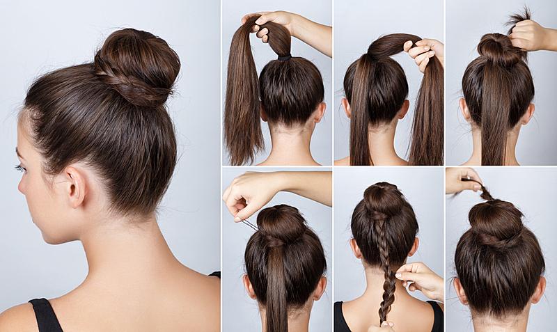发髻,高雅,发型,发辫,美,水平画幅,美人,古典式,长发,现代