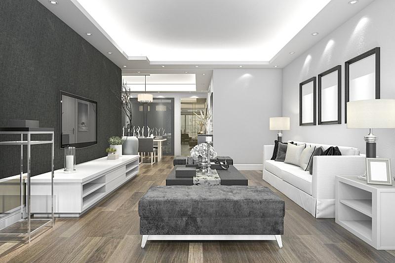 现代,华贵,起居室,三维图形,水晶吊灯,豪华酒店,扶手椅,水平画幅,无人,椅子
