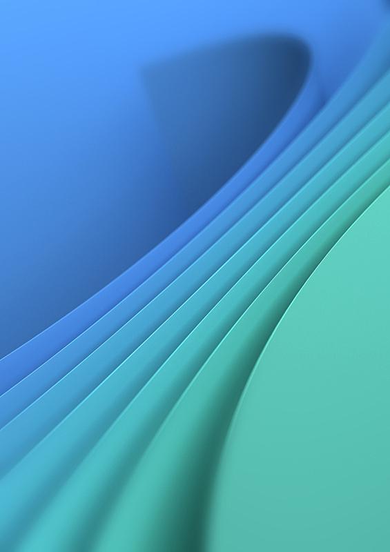 蓝色,绿色背景,几何形状,现代,绿松石色,背景,三维图形,纹理,绘画插图,圆形