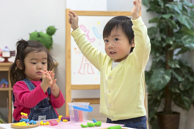 儿童,进行中,粘土,可爱的,专心,清新,仅日本人,肖像,玩具,好奇心