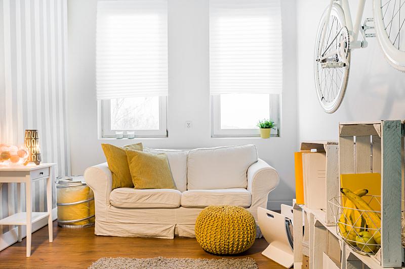太空,舒服,完美,新的,水平画幅,古典式,工作室,现代,沙发,宽的