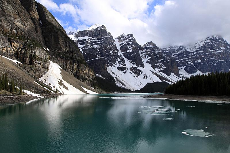 梦莲湖,班夫国家公园,自然,水,水平画幅,地形,阿尔伯塔省,无人,户外,湖