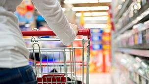 购物中心,购物车,超级市场,食品杂货,手推车,过道,留白,顾客,商店,仅成年人