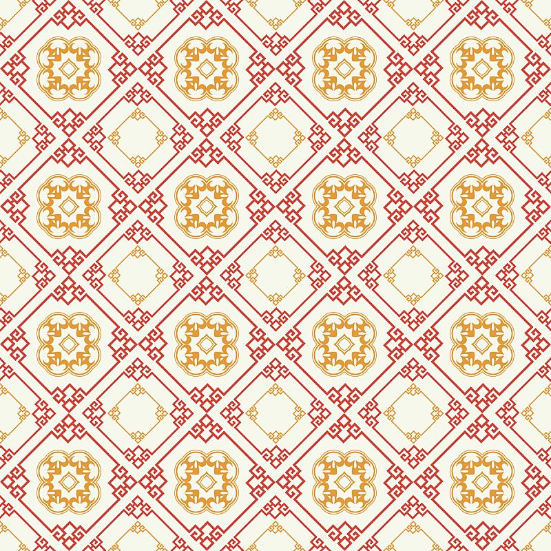 四方连续纹样,亚洲,高雅,纹理,2015年,过时的,中国,华丽的,线条,纺织品