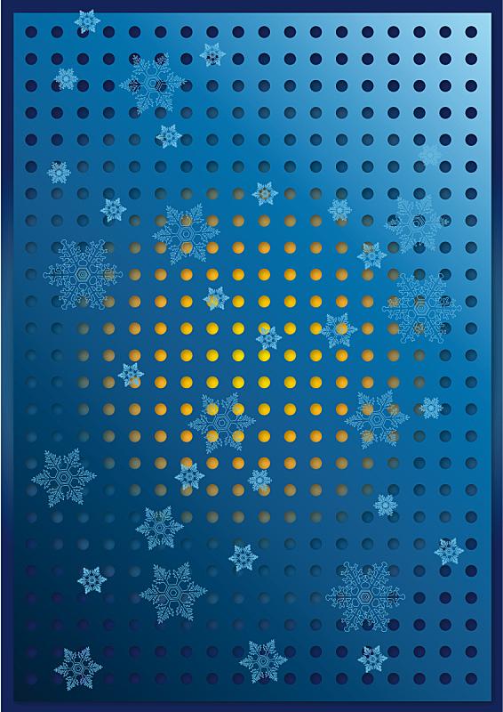 雪花,在上面,蓝色背景,环境,霜,雪,天气,纹理,天空,绘画插图