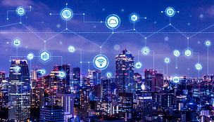Smart city concept. IoT(Internet of Things). ICT(Information Communication Technology).