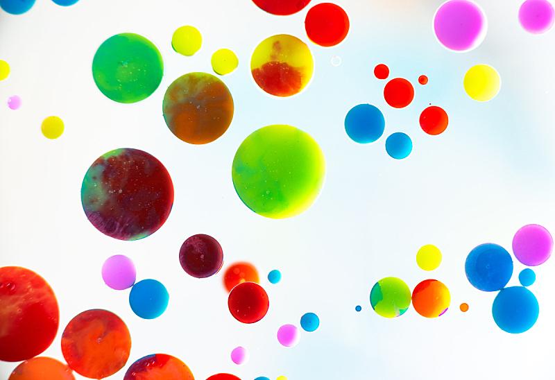 泡泡,抽象,彩色图片,尼斯,白色背景,自然,湿,显微镜,红色,染料