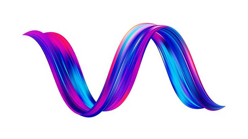 现代,三维图形,绘画插图,液体,多色的,矢量,式样,丙稀画,形状,流动