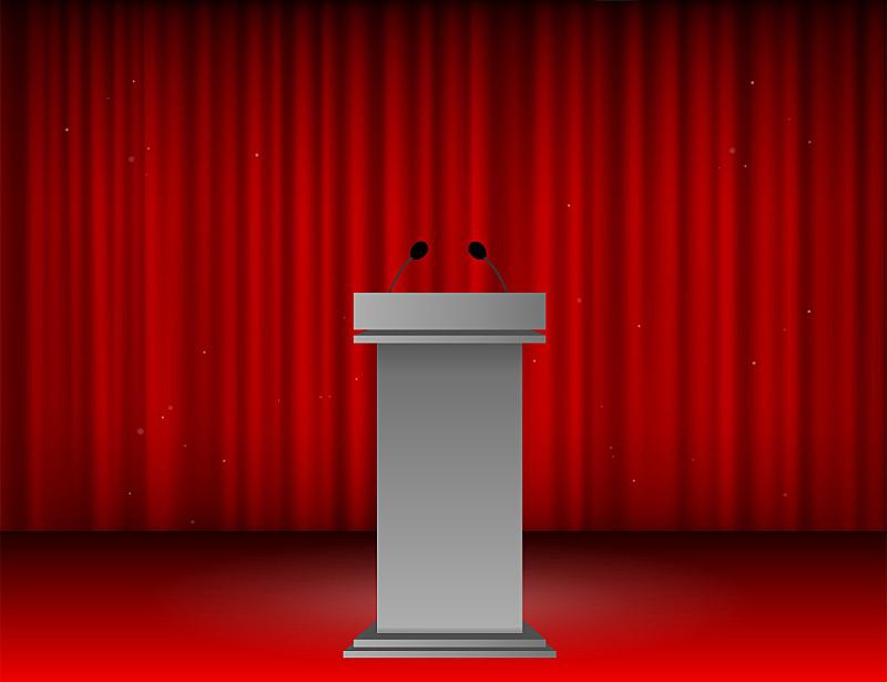 颁奖典礼,指挥台,背景,舞台,传媒,空的,结论,窗帘,纺织品,现代