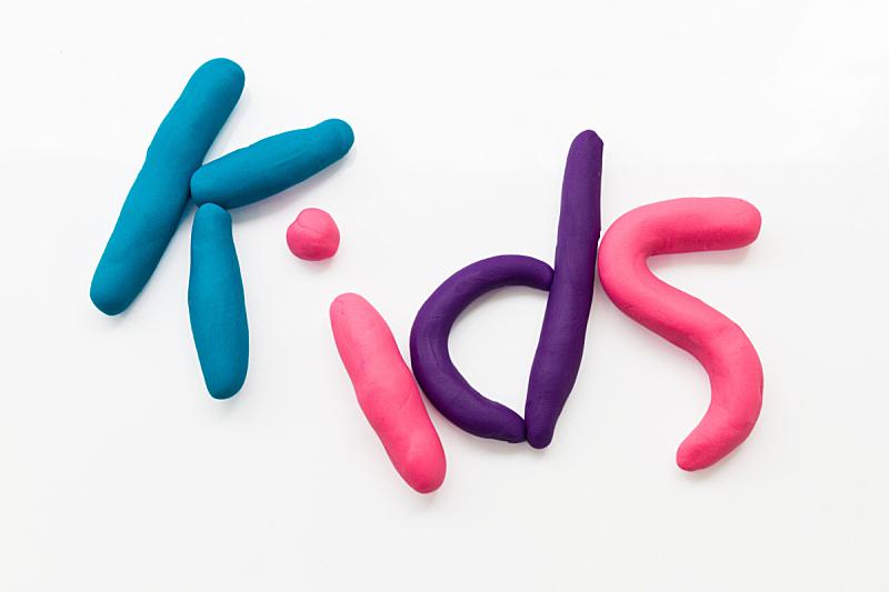 白色背景,儿童游戏陶土,美,字母,艺术模特,水平画幅,美人,塑胶,球体,性能组