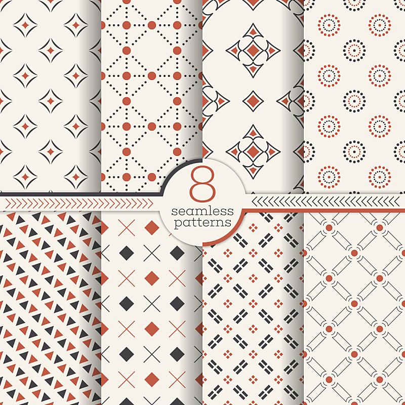 四方连续纹样,矢量,菱形,钻石形,连续性,几何形状,纺织品,棉,复古风格,瓷砖
