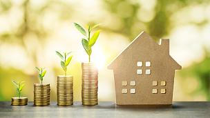 储蓄,房屋,金融,黄金,背景,模型,计划书,银行业,叠