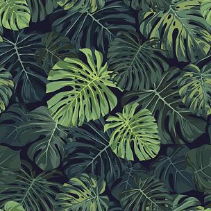 热带植物图案,热带气候,绿色,矢量,背景,纺织品,暗色,式样,棕榈叶